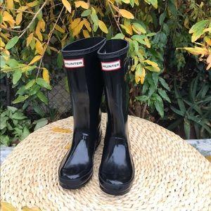 Hunter boots 🔴size 1 big kids